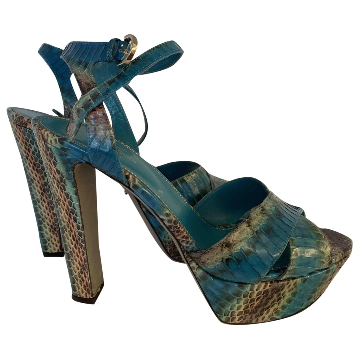 Sergio Rossi \N Turquoise Exotic leathers Sandals for Women 40 EU