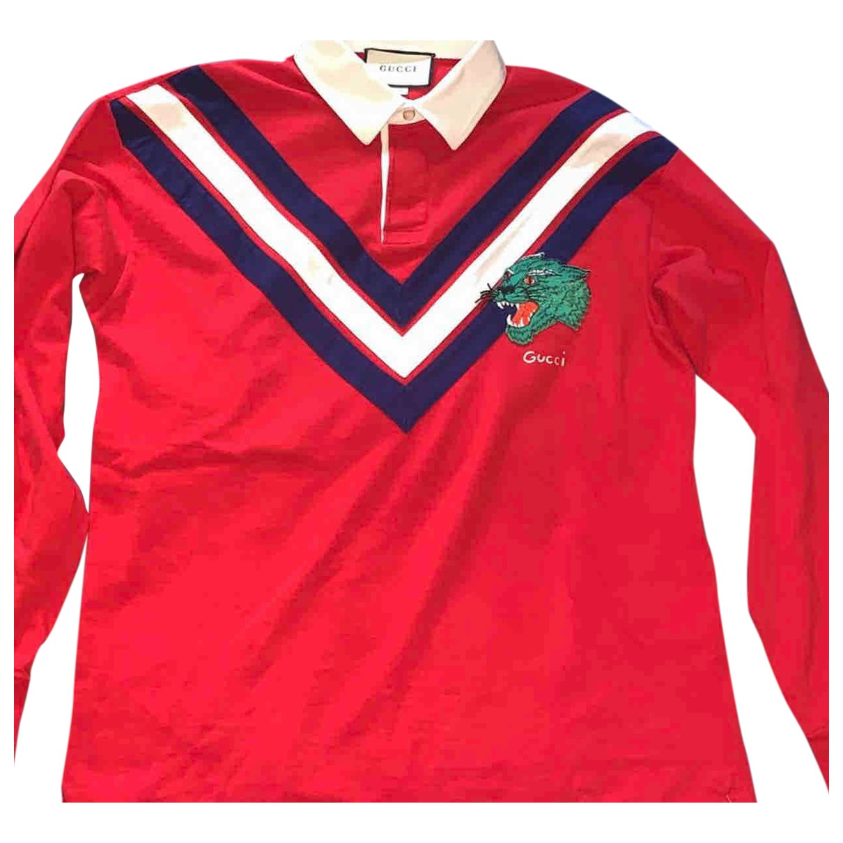 Gucci \N Poloshirts in  Rot Baumwolle
