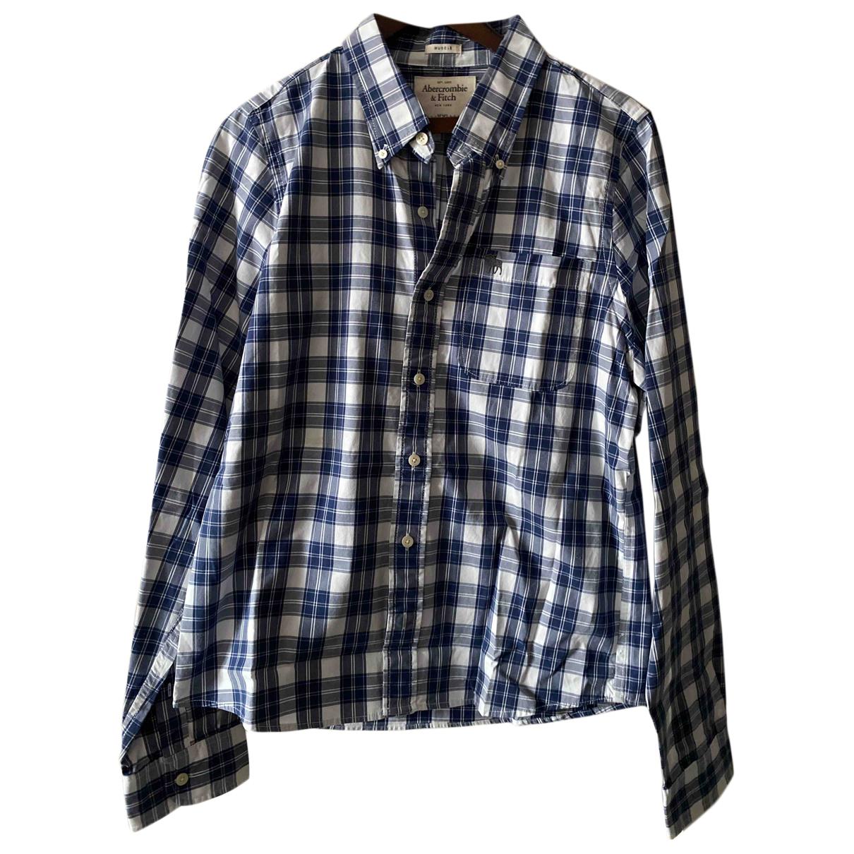 Abercrombie & Fitch N Blue Cotton Shirts for Men XXL International