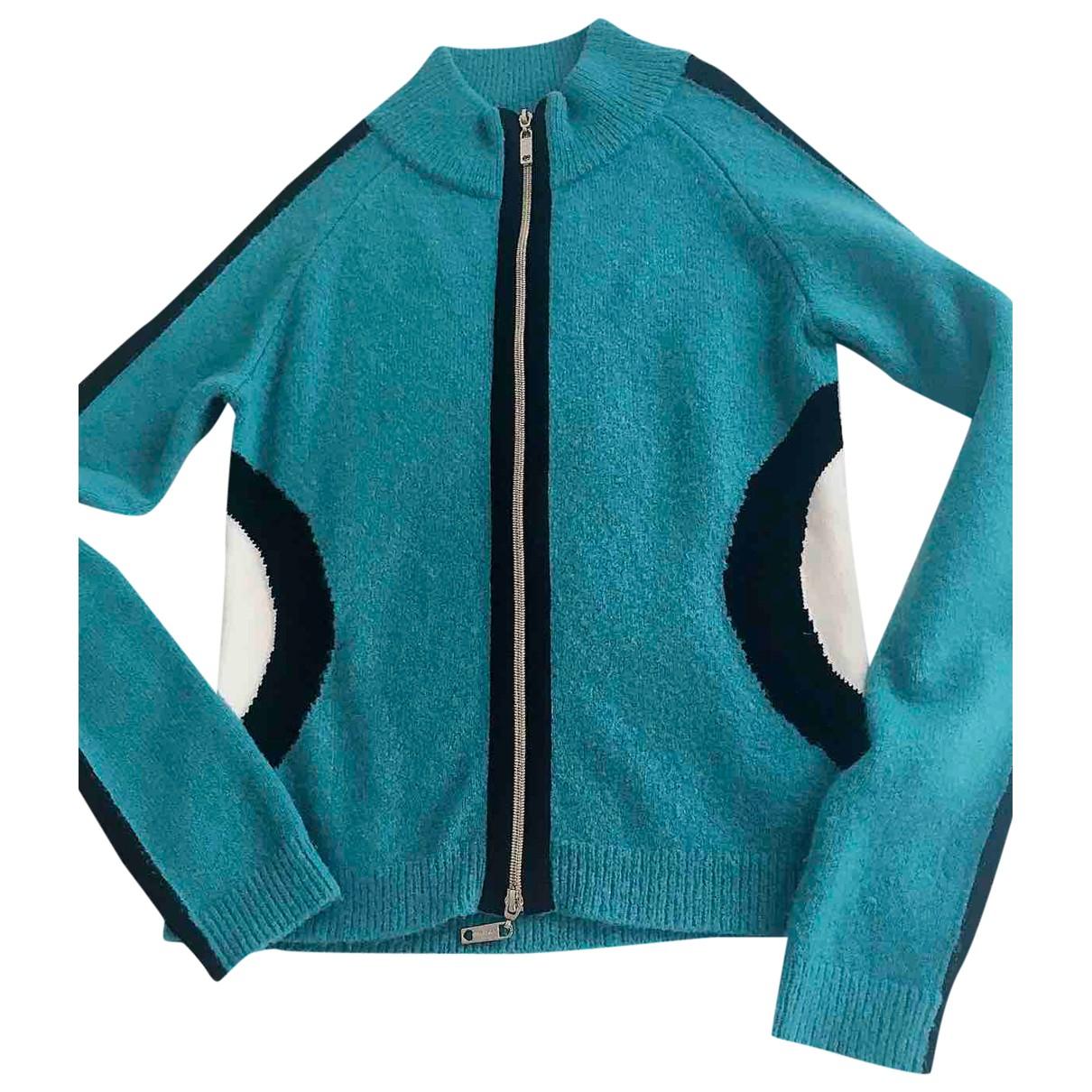Twin Set N Blue Wool Knitwear for Women 40 IT