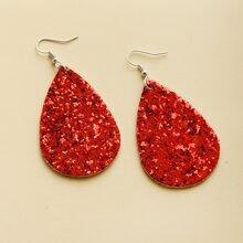 Glitter Water Drop Earrings