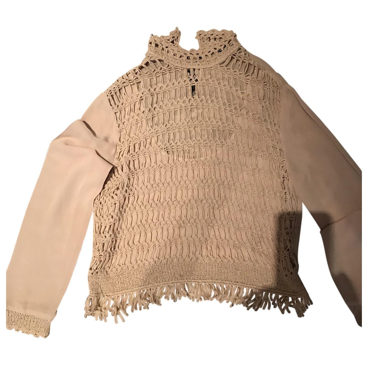 Gianfranco Ferre - Top   pour femme en soie - beige