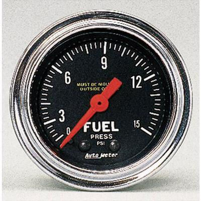Auto Meter Traditional Chrome Mechanical Fuel Pressure Gauge - 2411