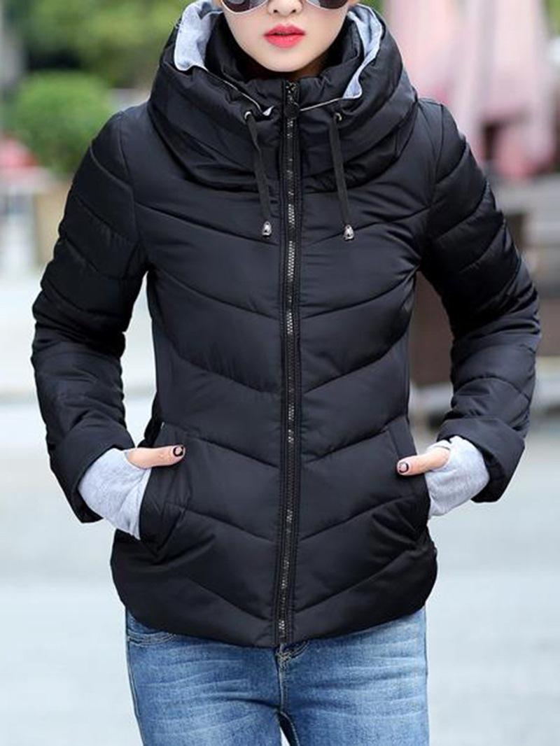 Ericdress Slim Thick Zipper Women's Down Coat