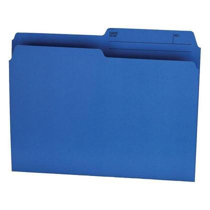 Hilroy@ recycle dossier de fichiers manille, 100 dossiers par boite - bleu, lettre 231332