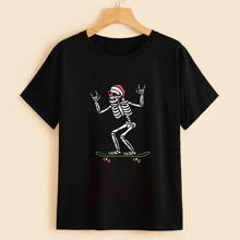 Christmas Skeleton Graphic Tee