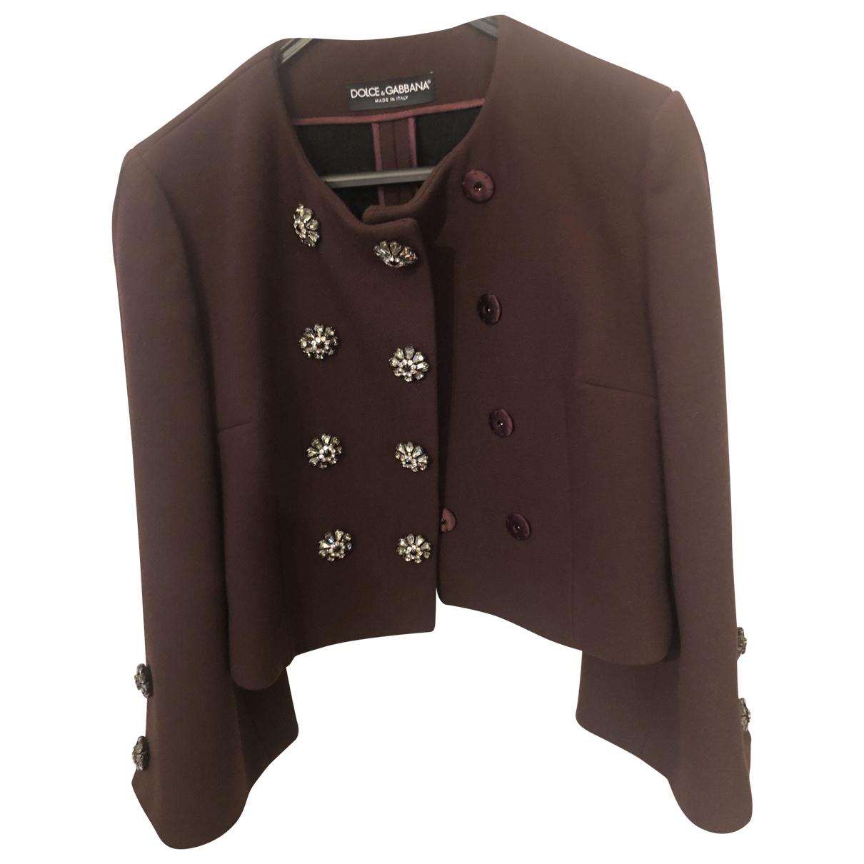 Dolce & Gabbana \N Burgundy Wool jacket for Women 42 IT