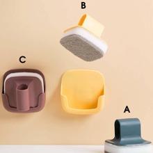 2 piezas esponja de limpieza montada en pared