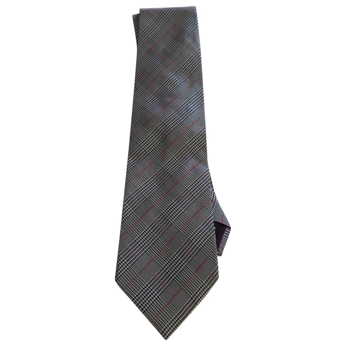 Etro \N Krawatten in  Grau Seide