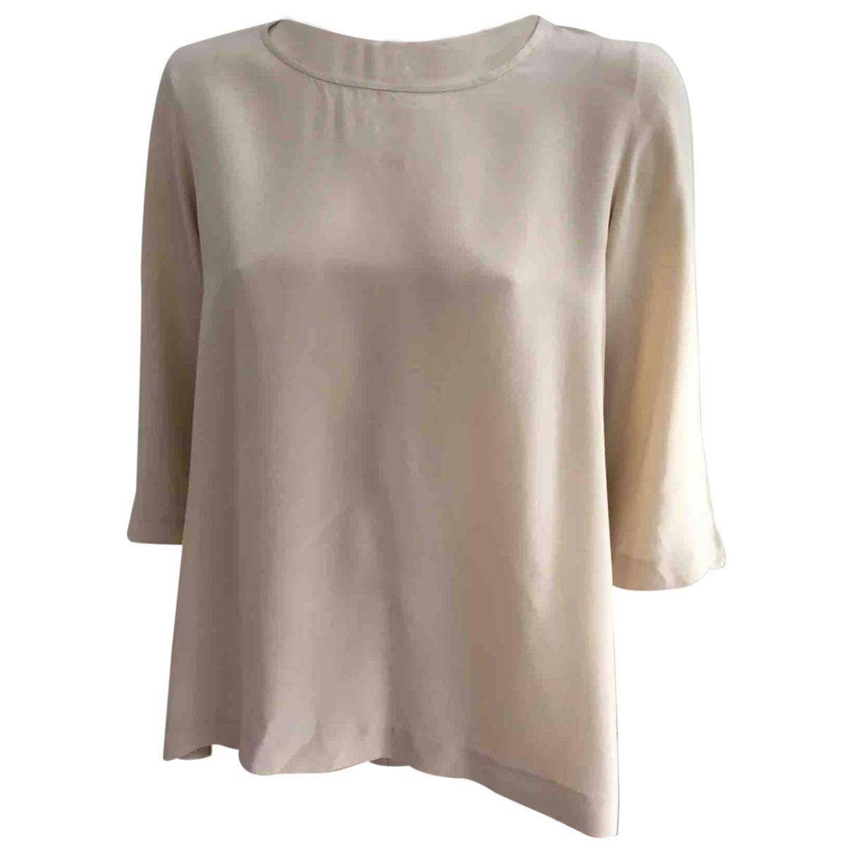 Les Petites - Top   pour femme en soie - beige