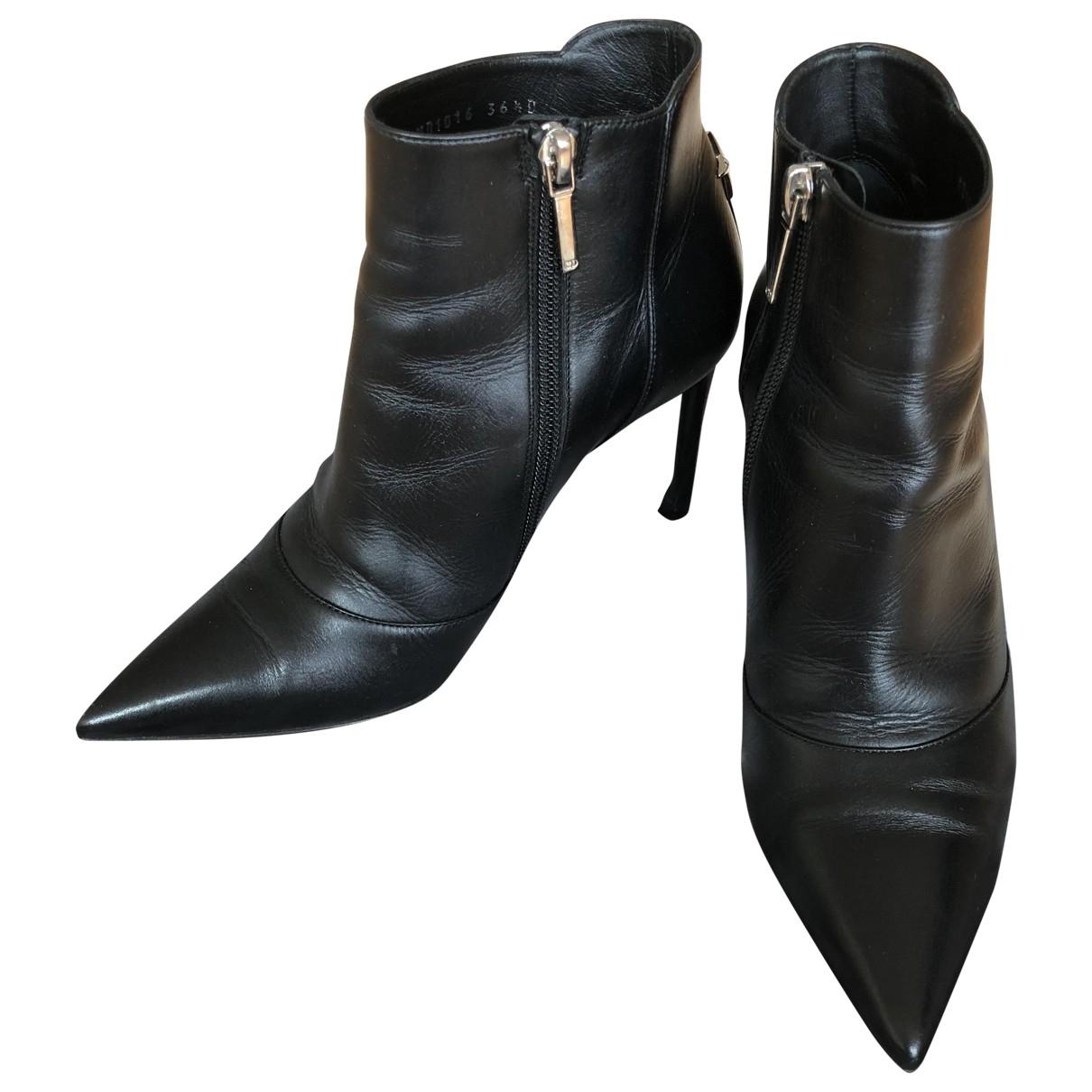Dior - Boots   pour femme en cuir - noir