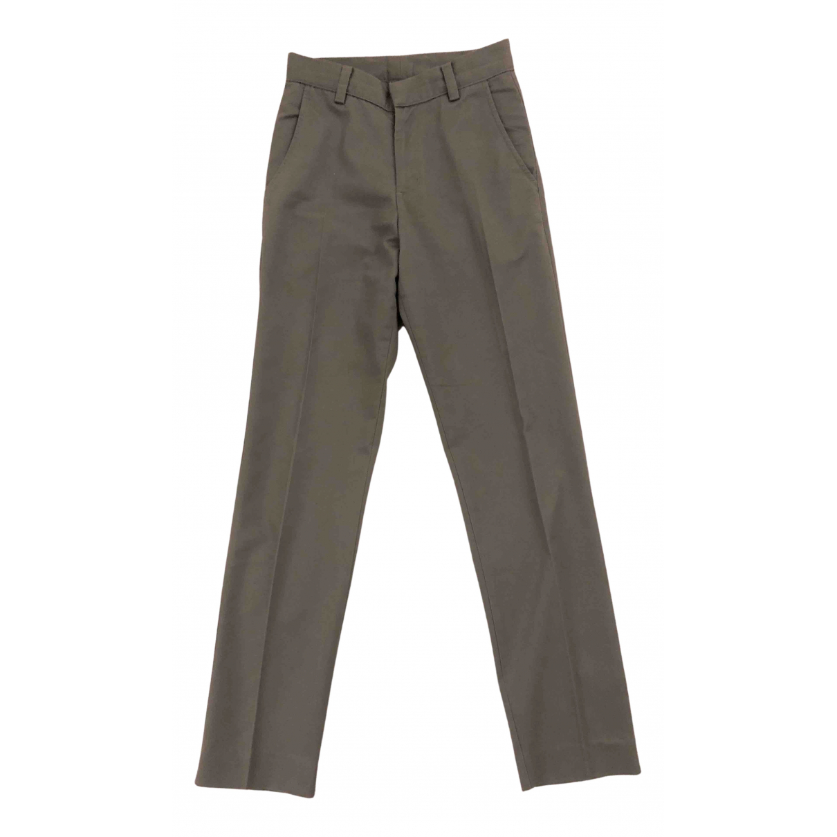 American Apparel N Grey Cotton Trousers for Men XS International