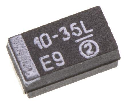 Vishay Tantalum Capacitor 10μF 35V dc MnO2 Solid ±10% Tolerance , TR3 (5)