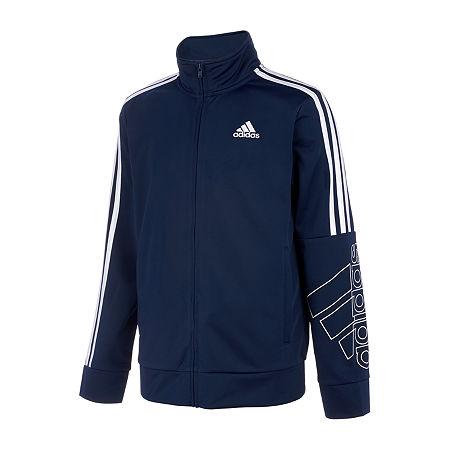 adidas Big Boys Lightweight Track Jacket, X-large (18-20) , Blue