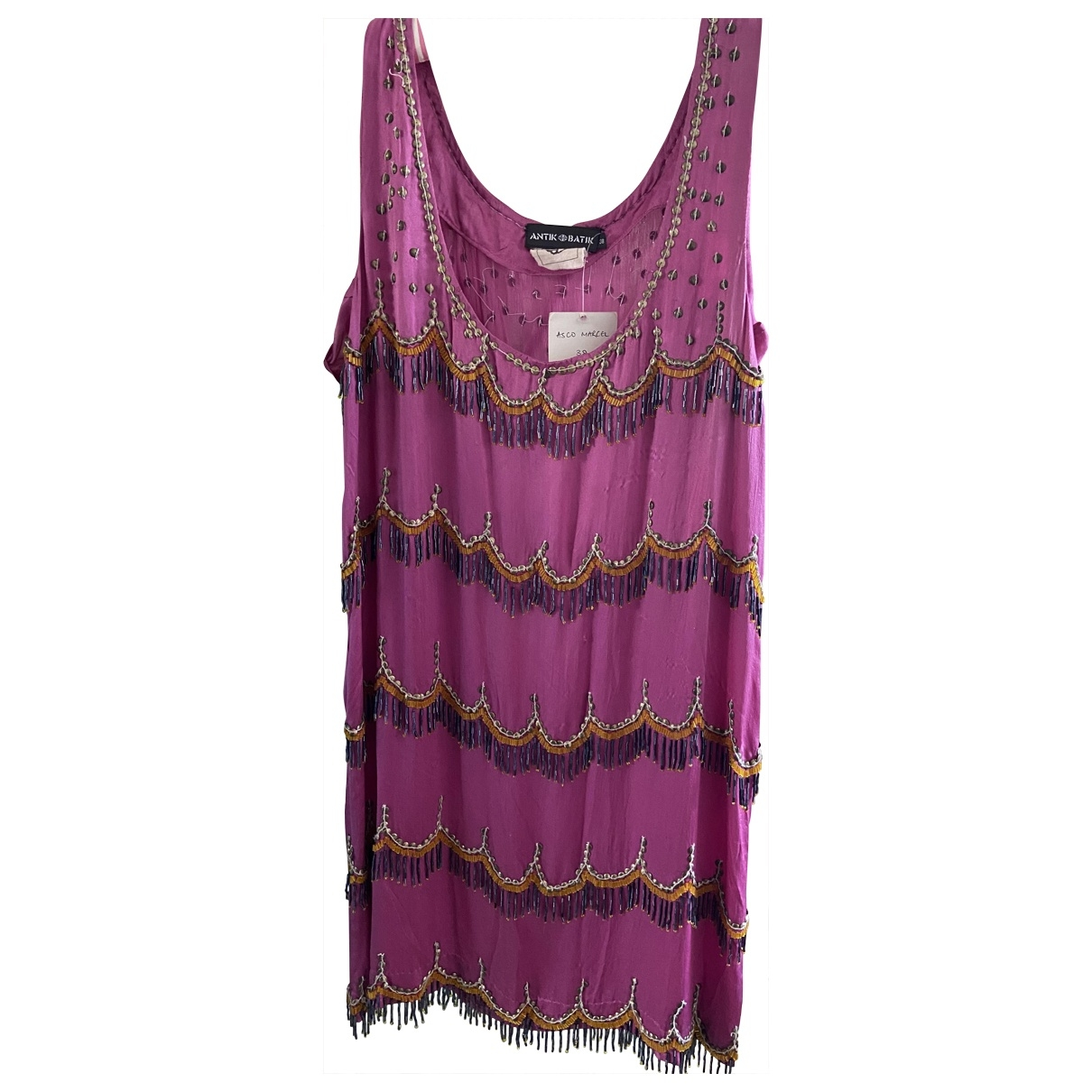 Antik Batik \N Kleid in  Rosa Seide