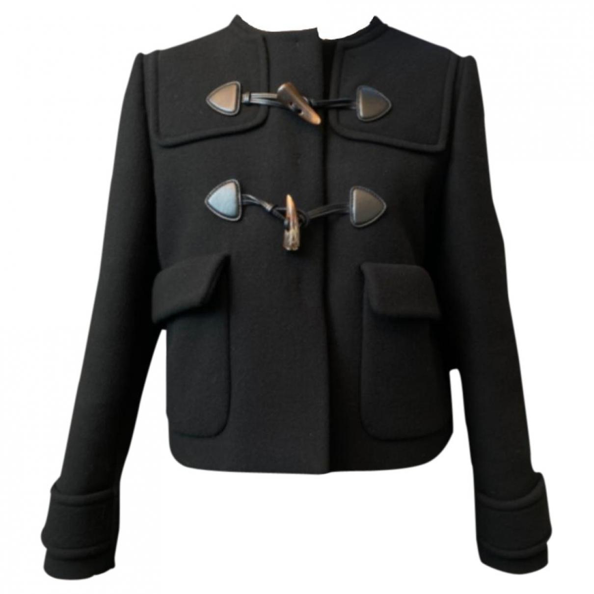 Miu Miu \N Black Wool jacket for Women 44 IT