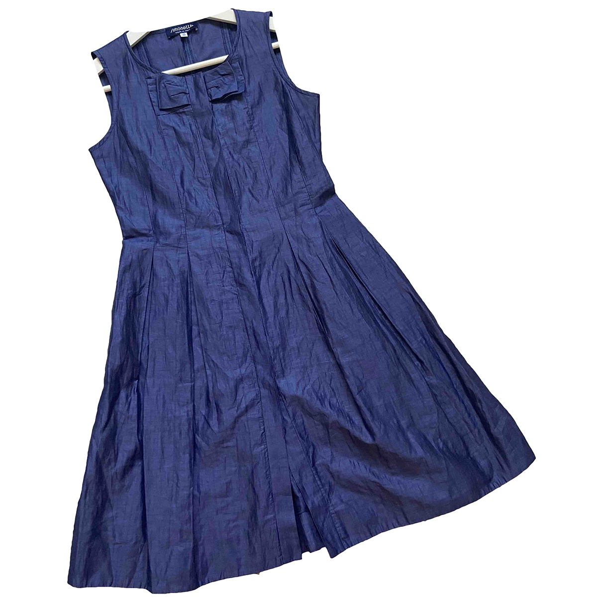 Simonetta \N Blue Linen dress for Kids 12 years - XS FR