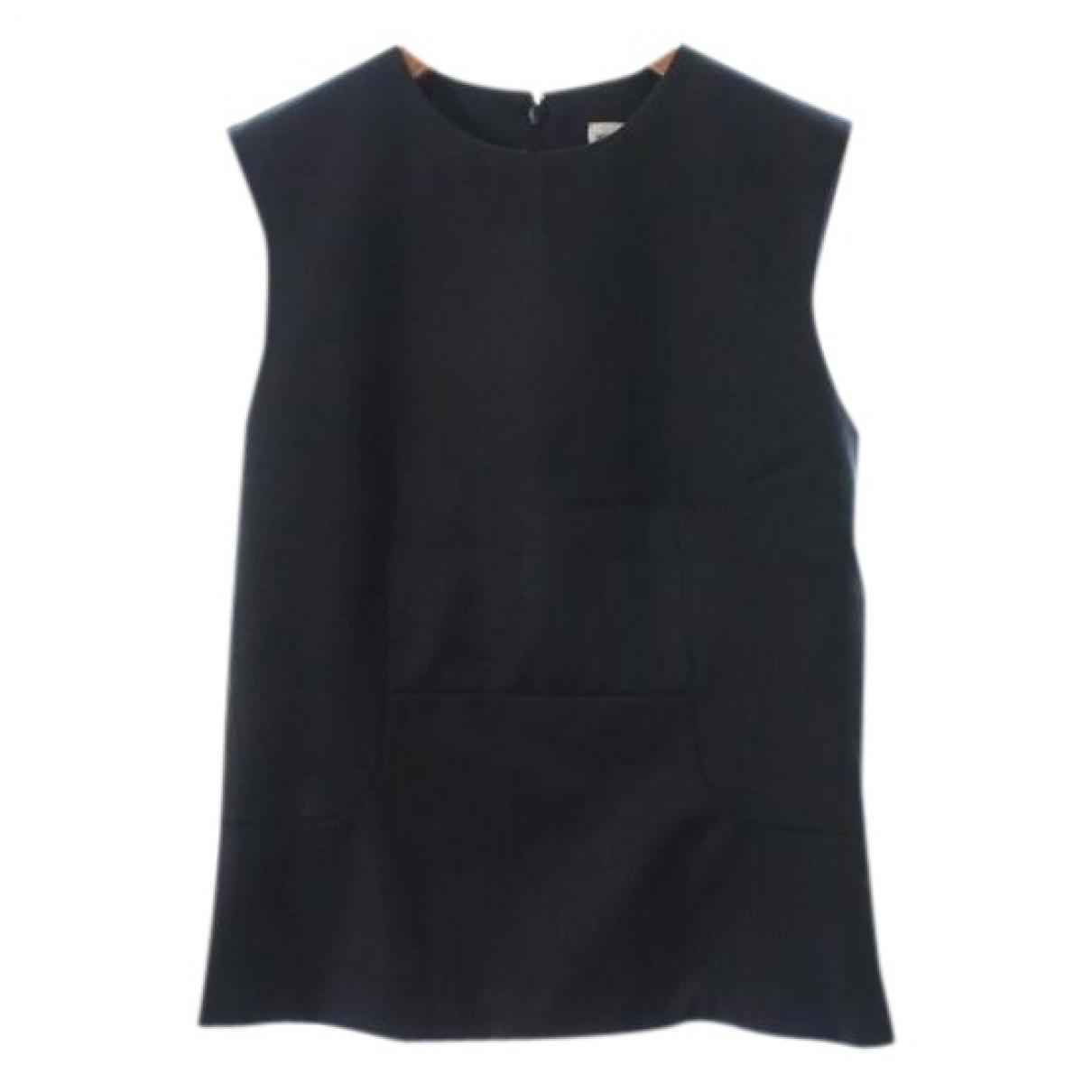 Hermes - Top   pour femme en laine - marine