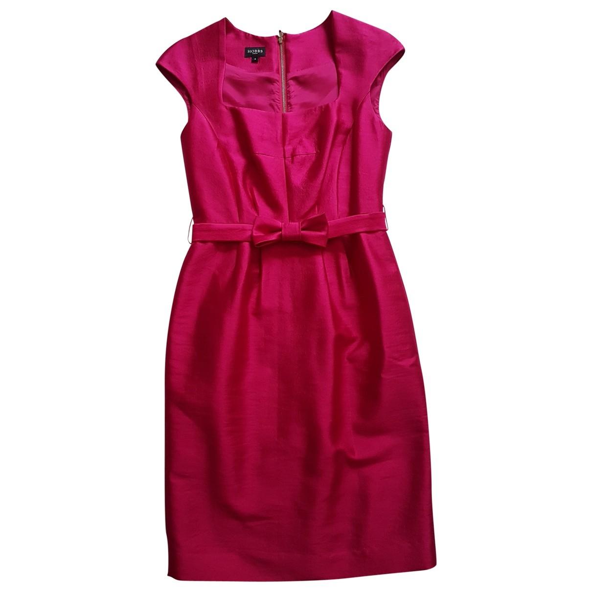Hobbs - Robe   pour femme en laine - rose