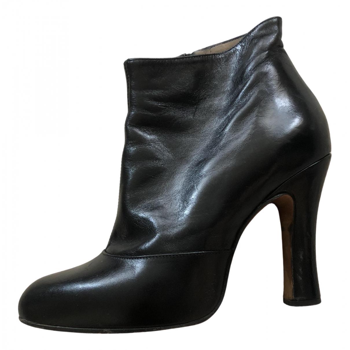 Marc Jacobs - Boots   pour femme en cuir - noir