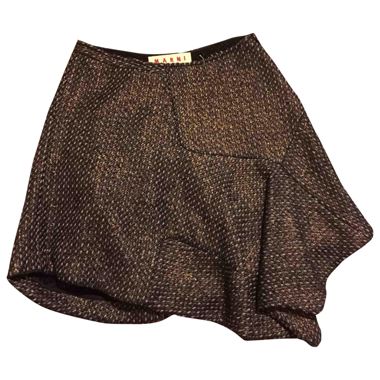 Marni \N Rocke in  Braun Wolle