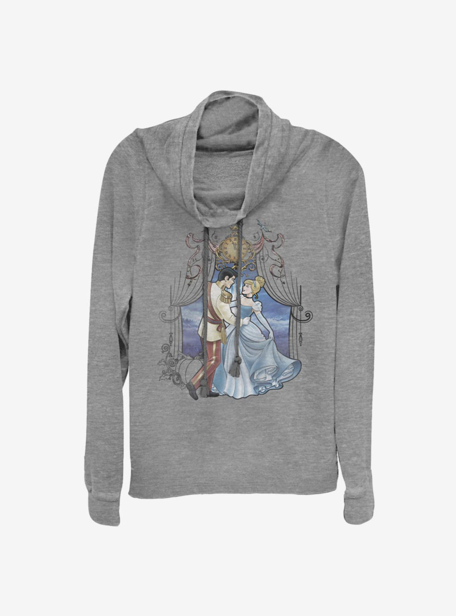 Disney Cinderella So This Is Love Cowl Neck Long-Sleeve Womens Top