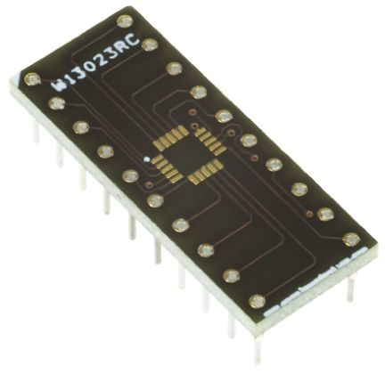 Winslow Straight Through Hole Mount 0.5 mm, 2.54 mm Pitch IC Socket Adapter, 12 Pin Female QFN to 12 Pin Male DIP (5)