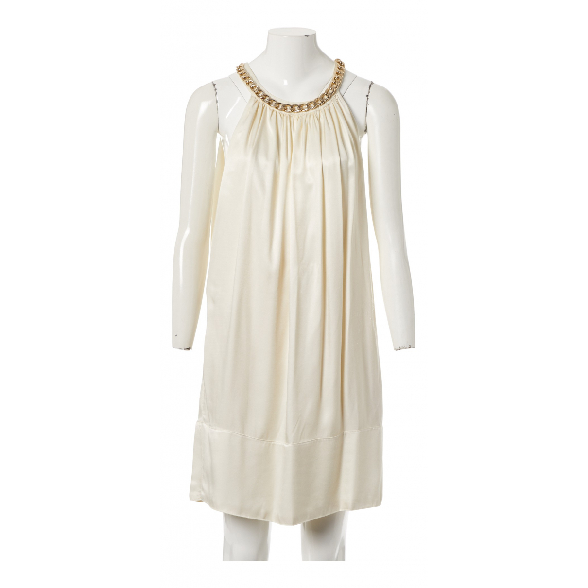 Pierre Balmain N Ecru Silk dress for Women 38 FR