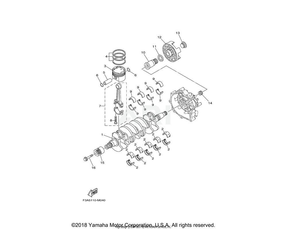 Yamaha OEM 6S5-17031-00-00 BOLT