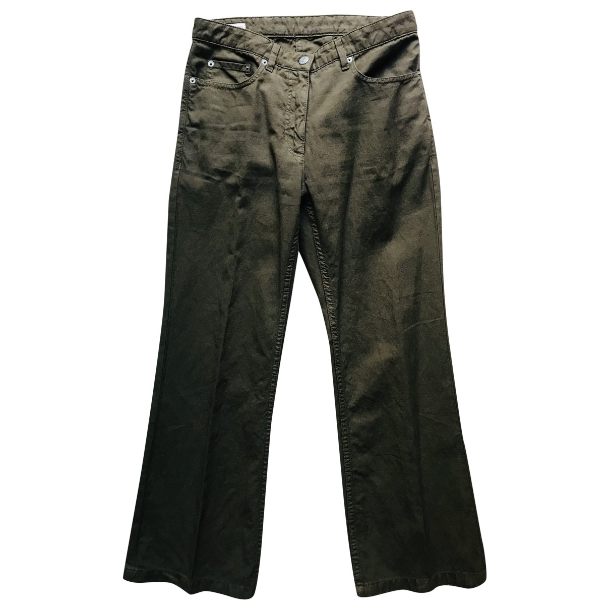 Dries Van Noten \N Khaki Cotton Trousers for Women S International
