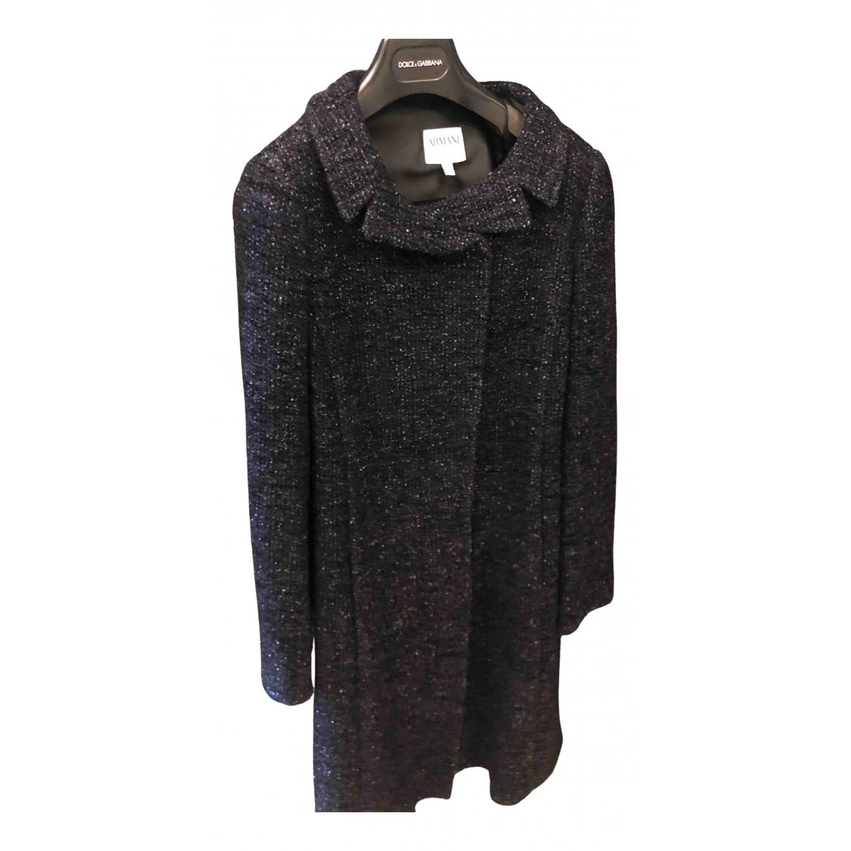 Armani Collezioni \N Maentel in  Blau Wolle