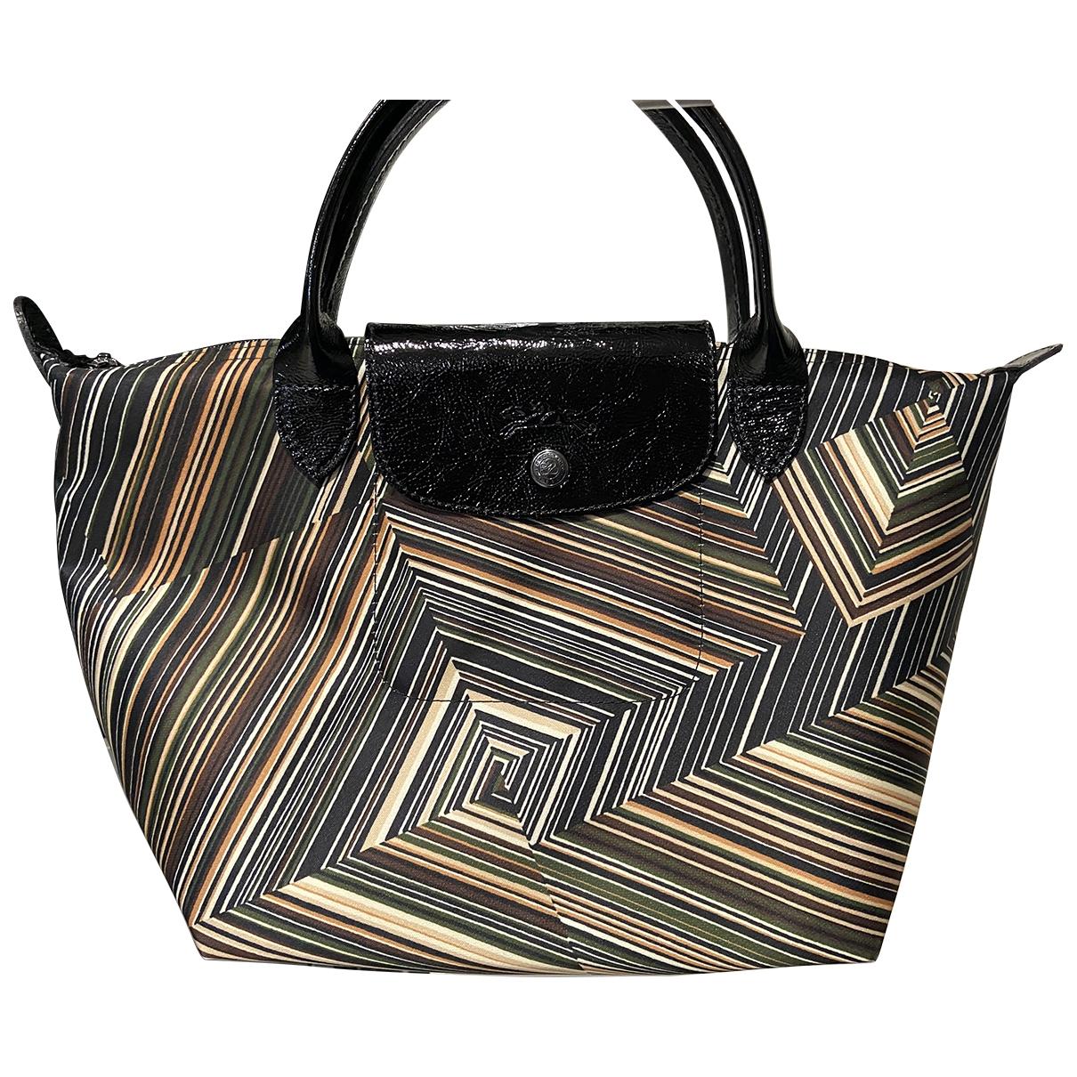 Longchamp \N Handtasche in  Lila Leinen