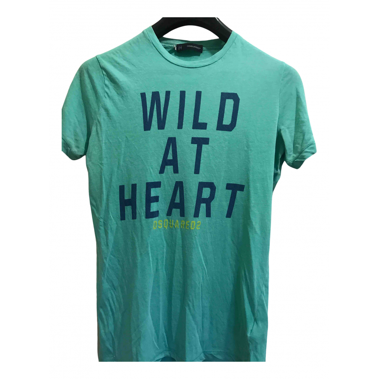 Dsquared2 \N Turquoise Cotton T-shirts for Men M International