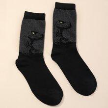 Men Dinosaur Pattern Socks
