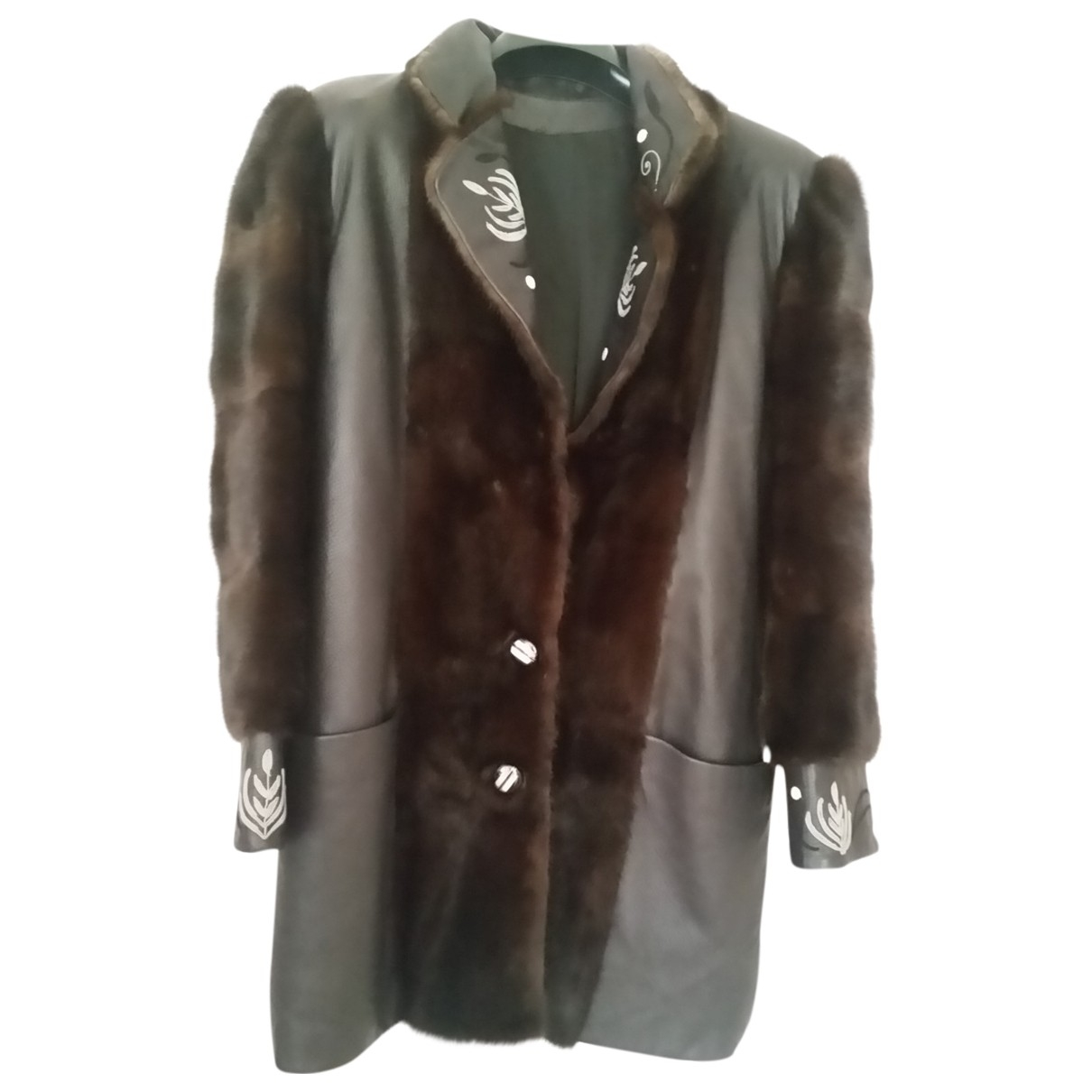 Non Signé / Unsigned \N Brown Mink coat for Women 48 FR