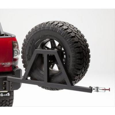Body Armor Toyota Tacoma Tire/Can Swing Arm Carrier in Textured Black - TC-5293