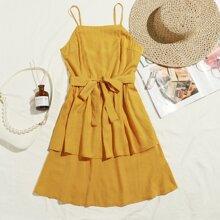 Gelb  Reissverschluss  Einfarbig Bohmisch Kleider