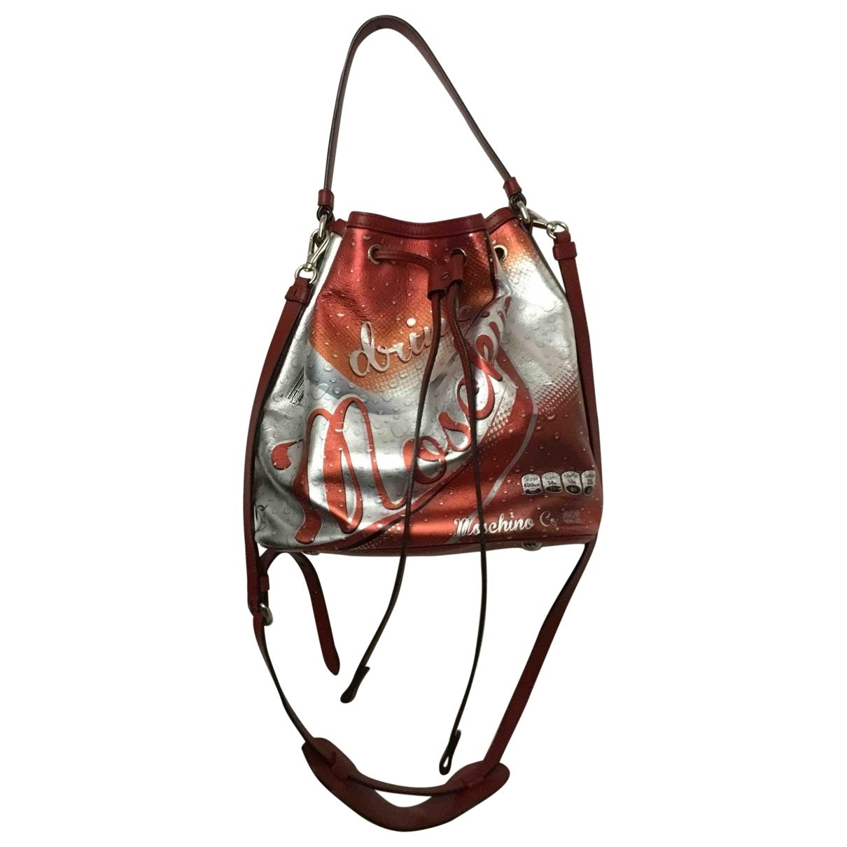Moschino - Sac a main   pour femme en toile - rouge