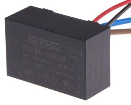 Recom , 4W Embedded Switch Mode Power Supply SMPS, 12V dc, Encapsulated