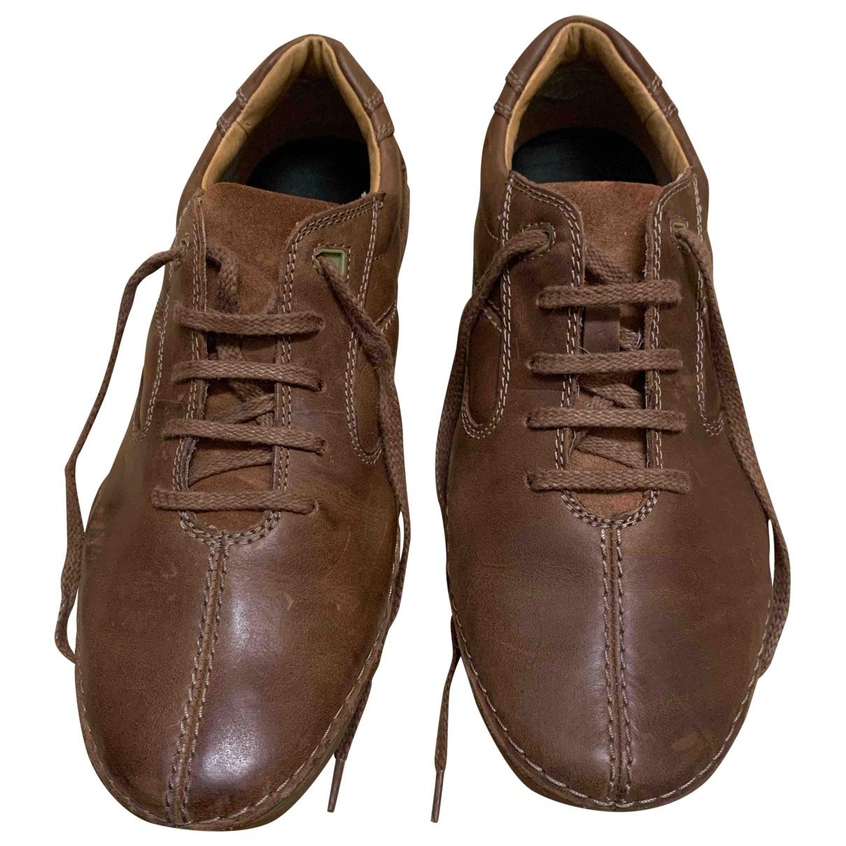 Clarks - Derbies   pour homme en cuir - marron