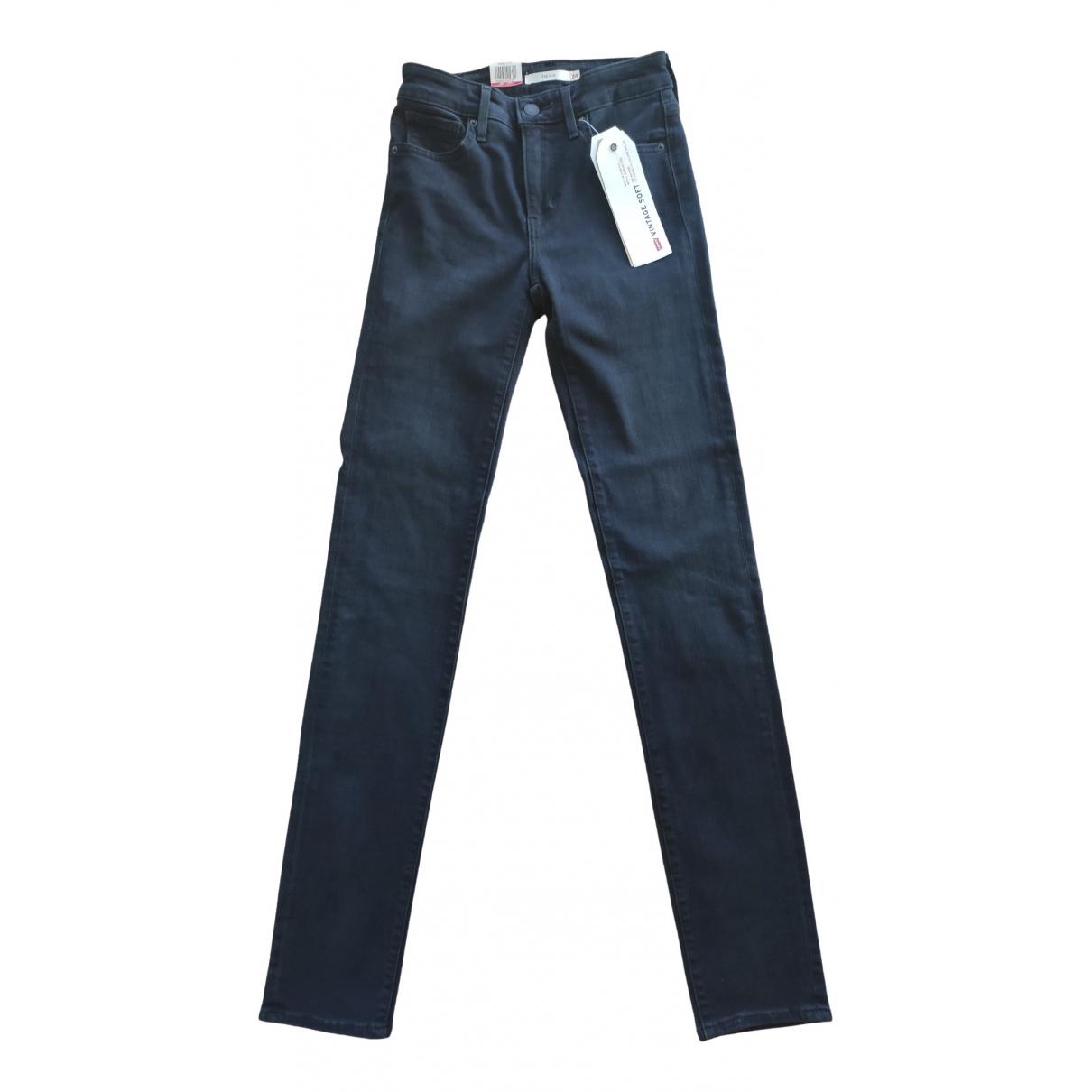 Levi's 712 Black Cotton - elasthane Jeans for Women 24 US