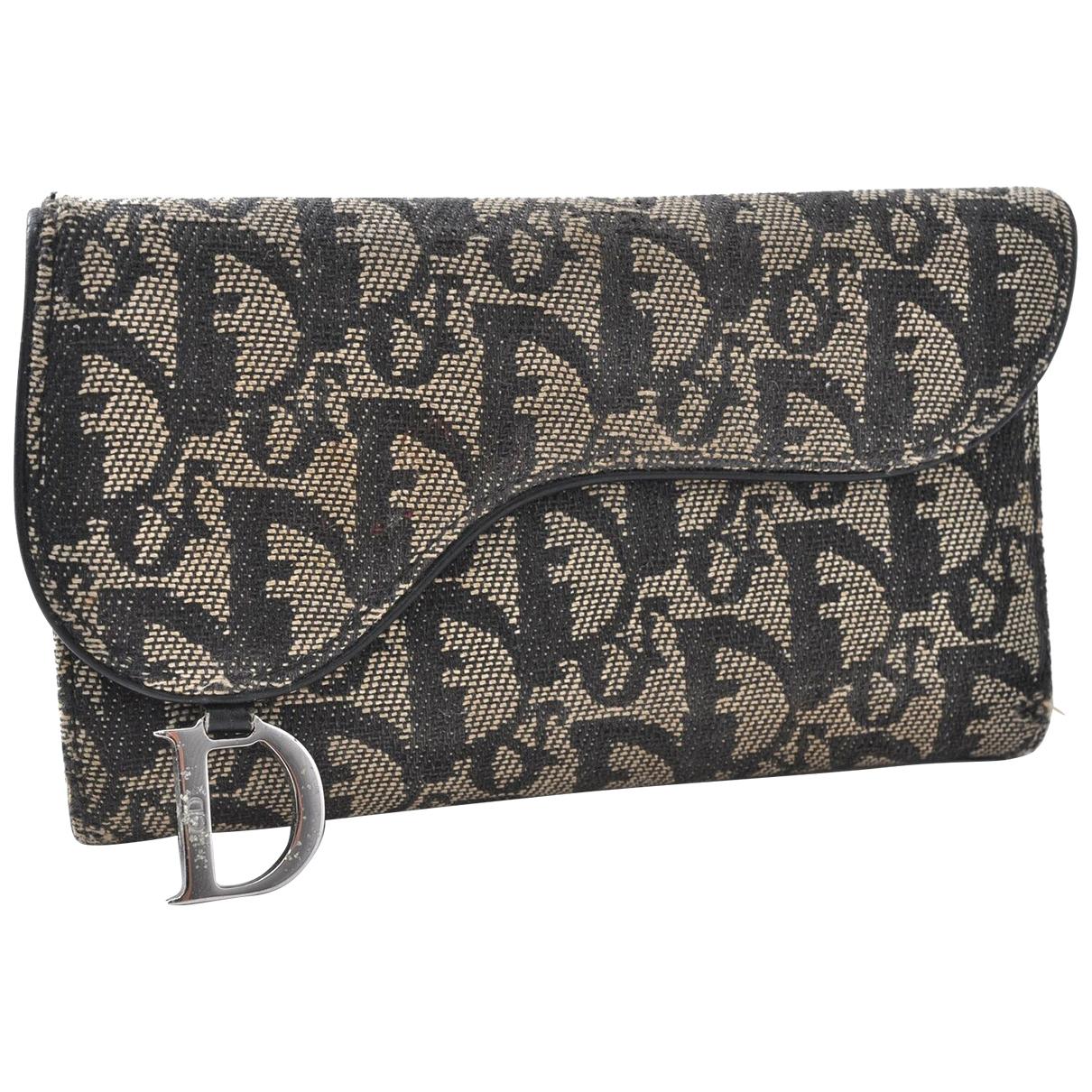 Dior \N Portemonnaie in  Schwarz Leinen