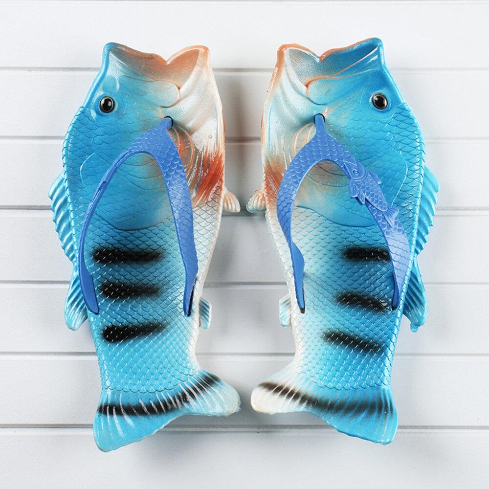 Large Size Women Casual Beach Fish Shape Flip Flops Slippers