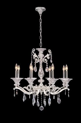 Vasari 020152-017-SS001 8-Light Chandelier in Two Tone Silver Finish with Swarovski Spectra Clear