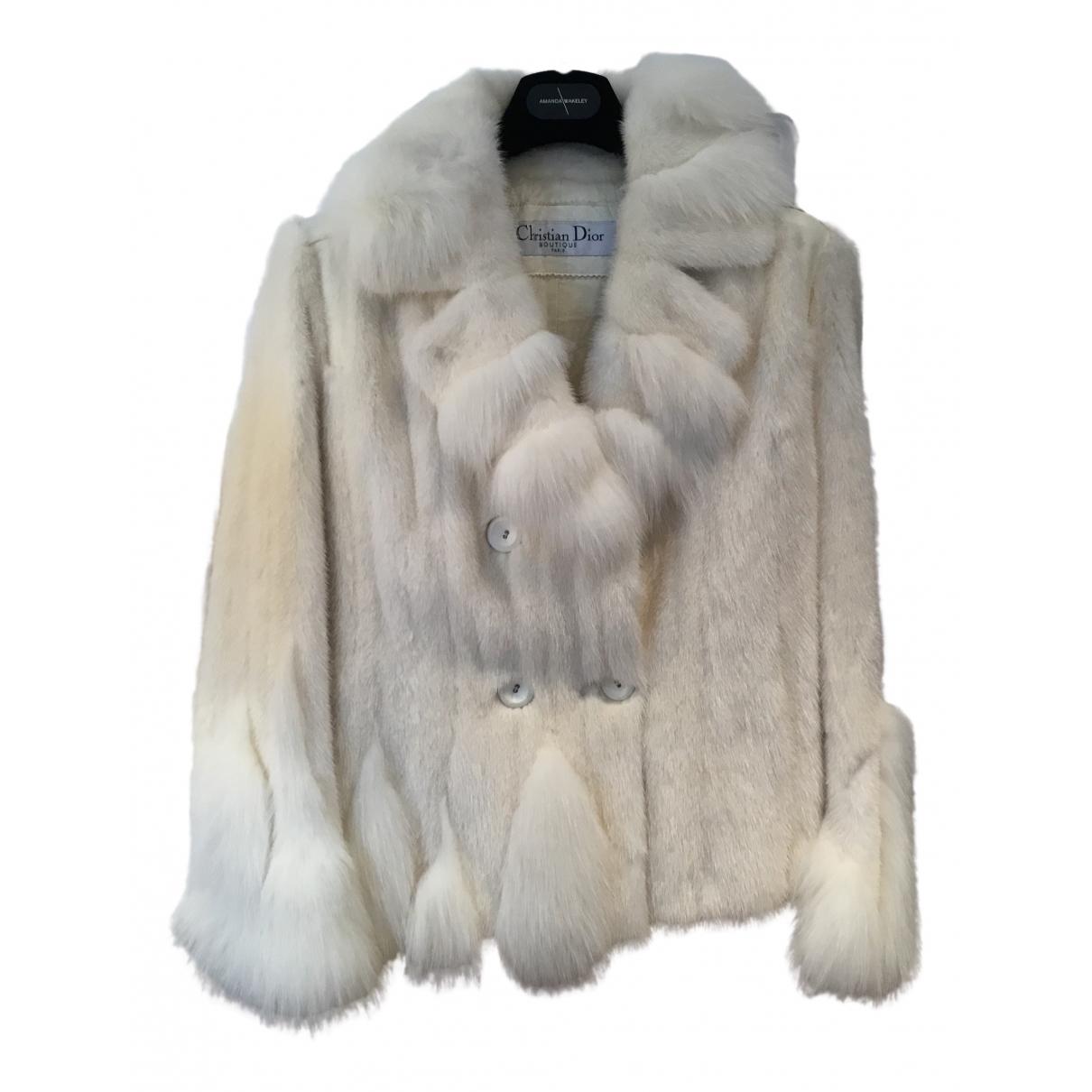 Dior - Manteau   pour femme en fourrure - blanc