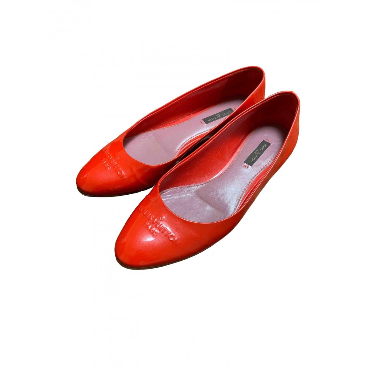 Louis Vuitton \N Orange Patent leather Ballet flats for Women 37 EU