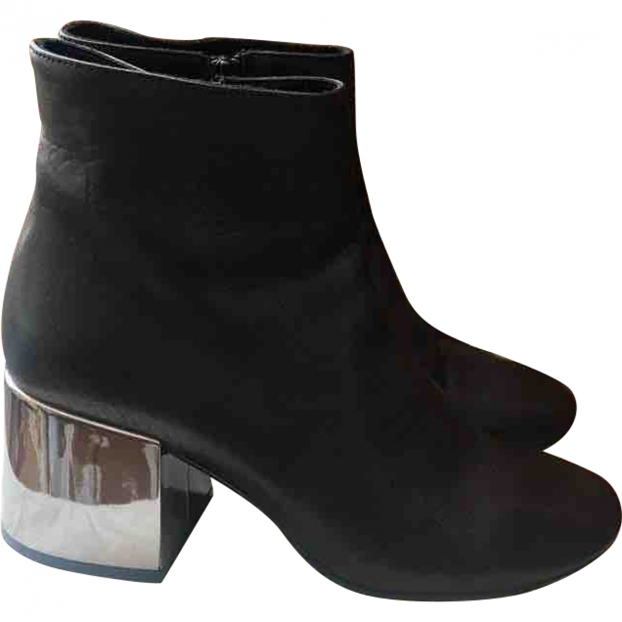 Mm6 \N Black Leather Boots for Women 40 EU