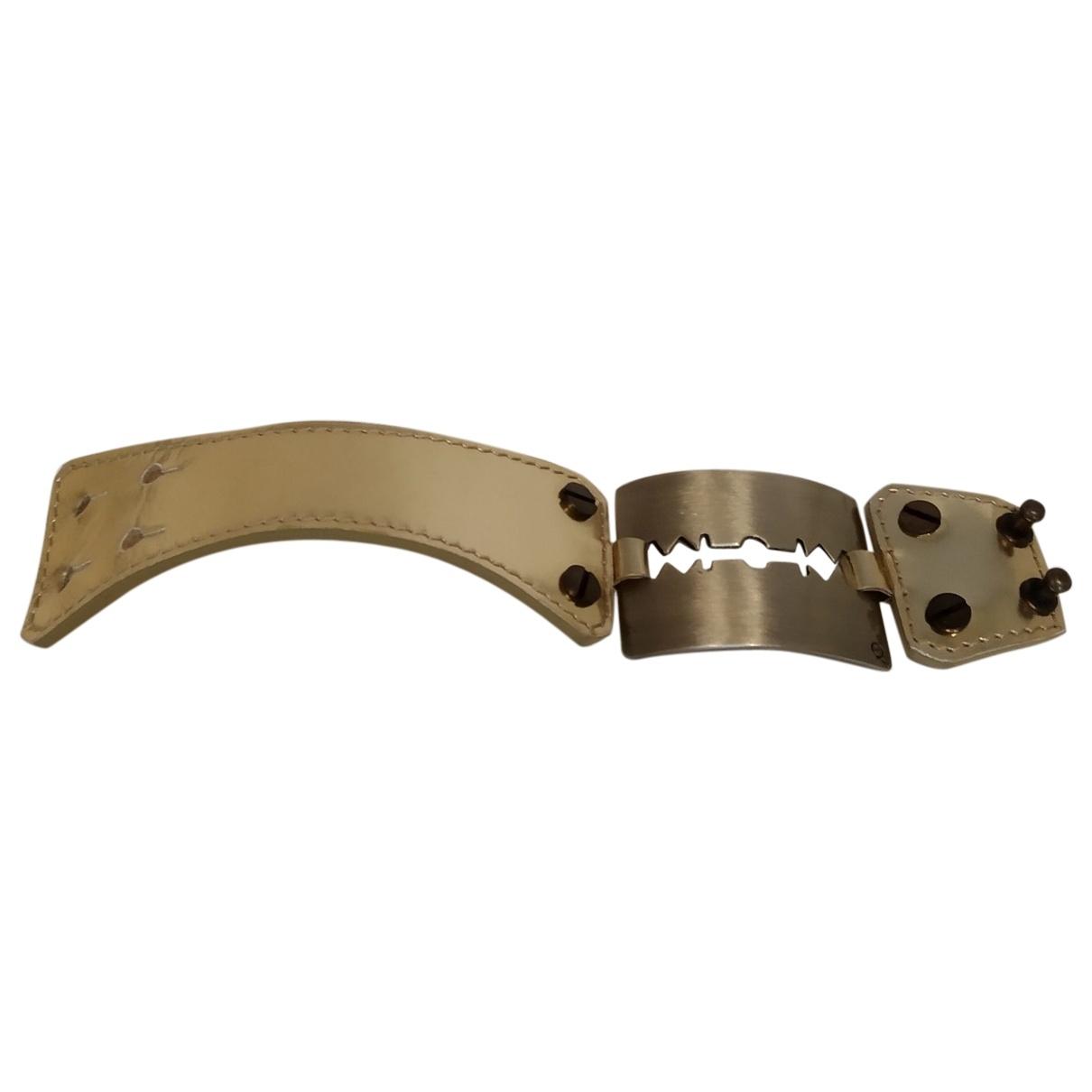 Mcq \N Armband in  Gold Leder