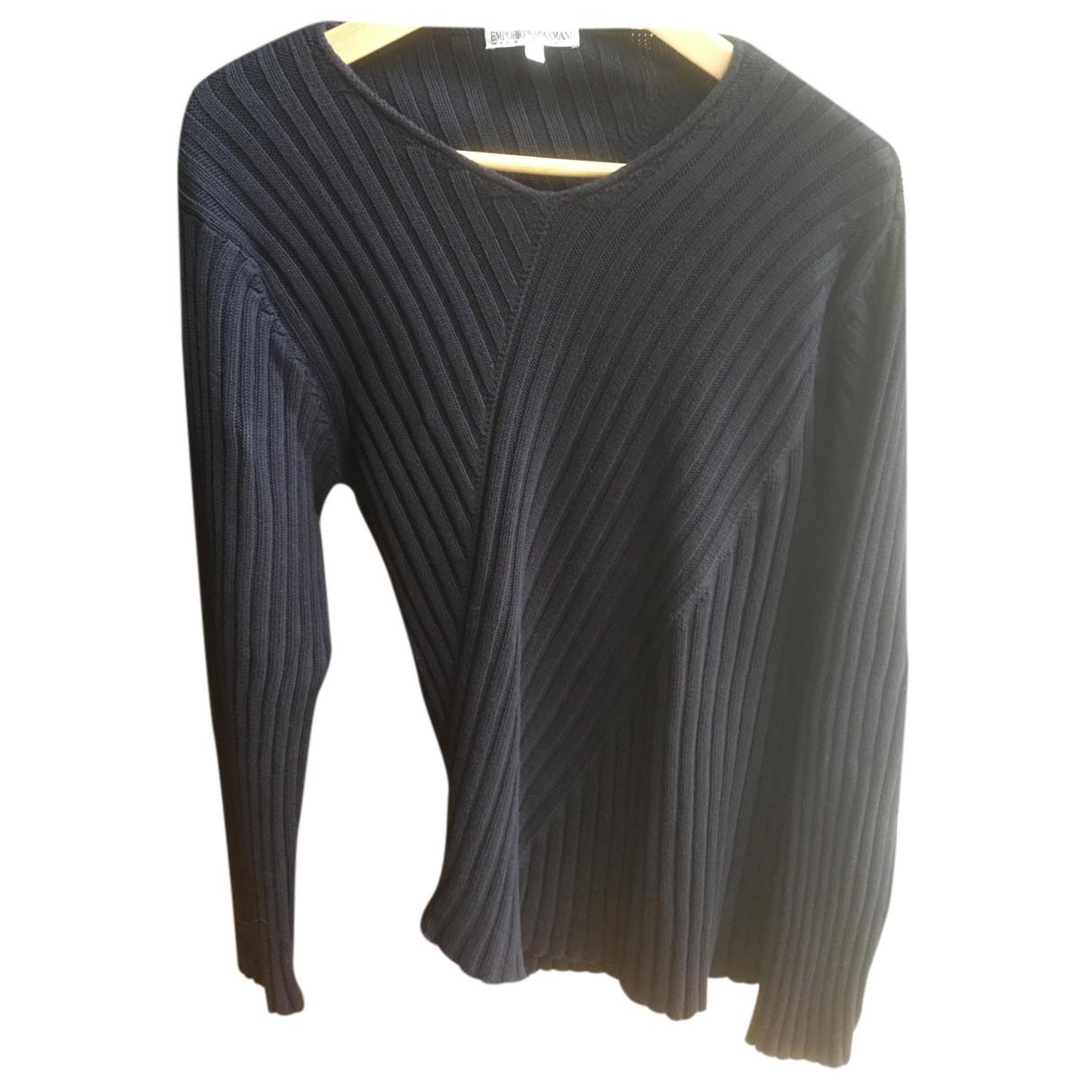 Emporio Armani \N Pullover.Westen.Sweatshirts  in  Marine Baumwolle