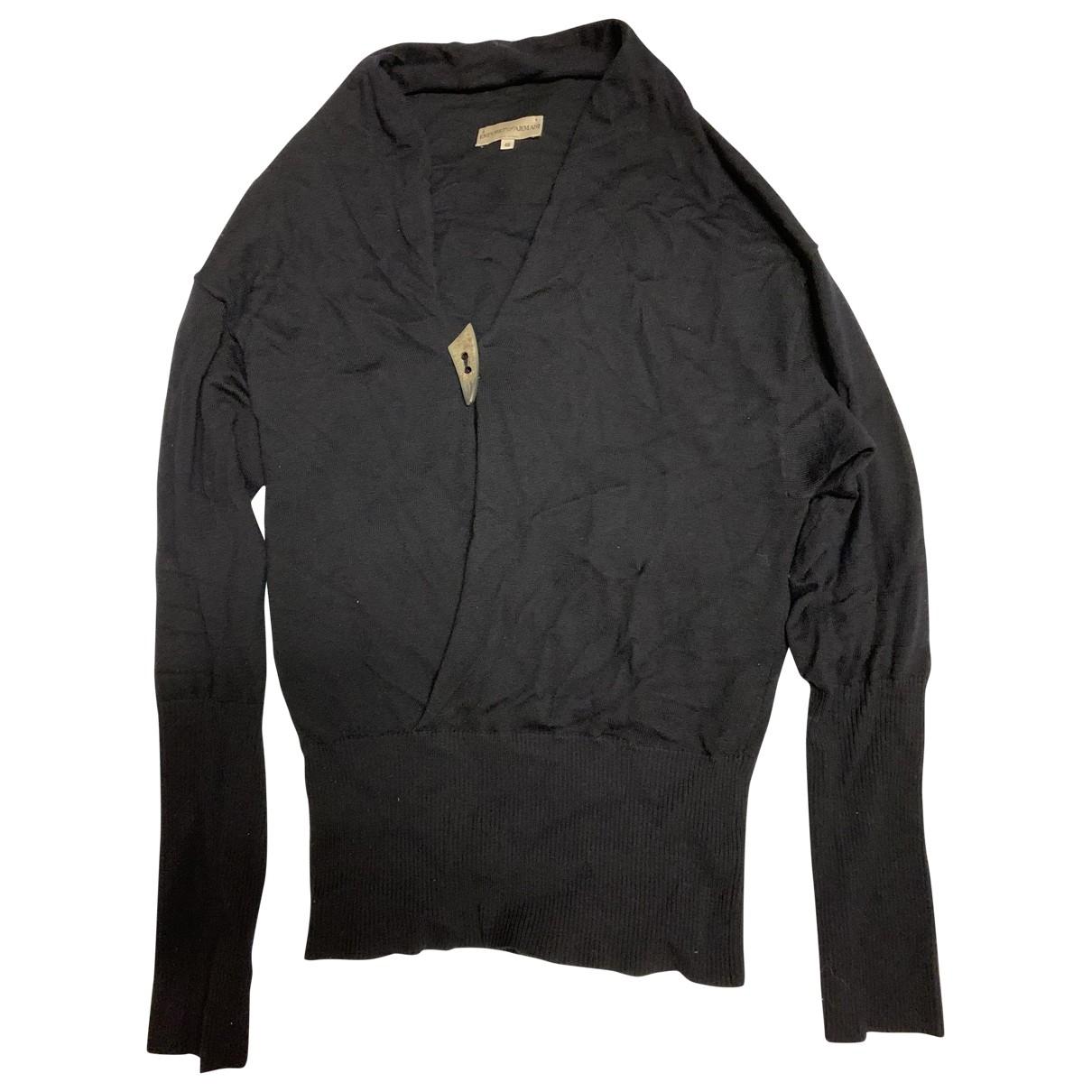 Emporio Armani - Pulls.Gilets.Sweats   pour homme en laine - marine